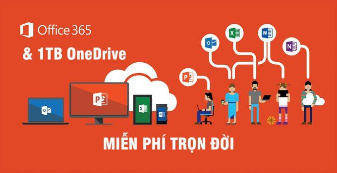 Hướng dẫn đăng ký Office 365 miễn phí trọn đời