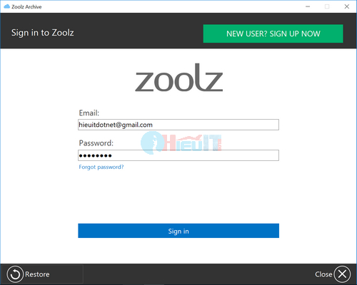 phần mềm zoolz cloud