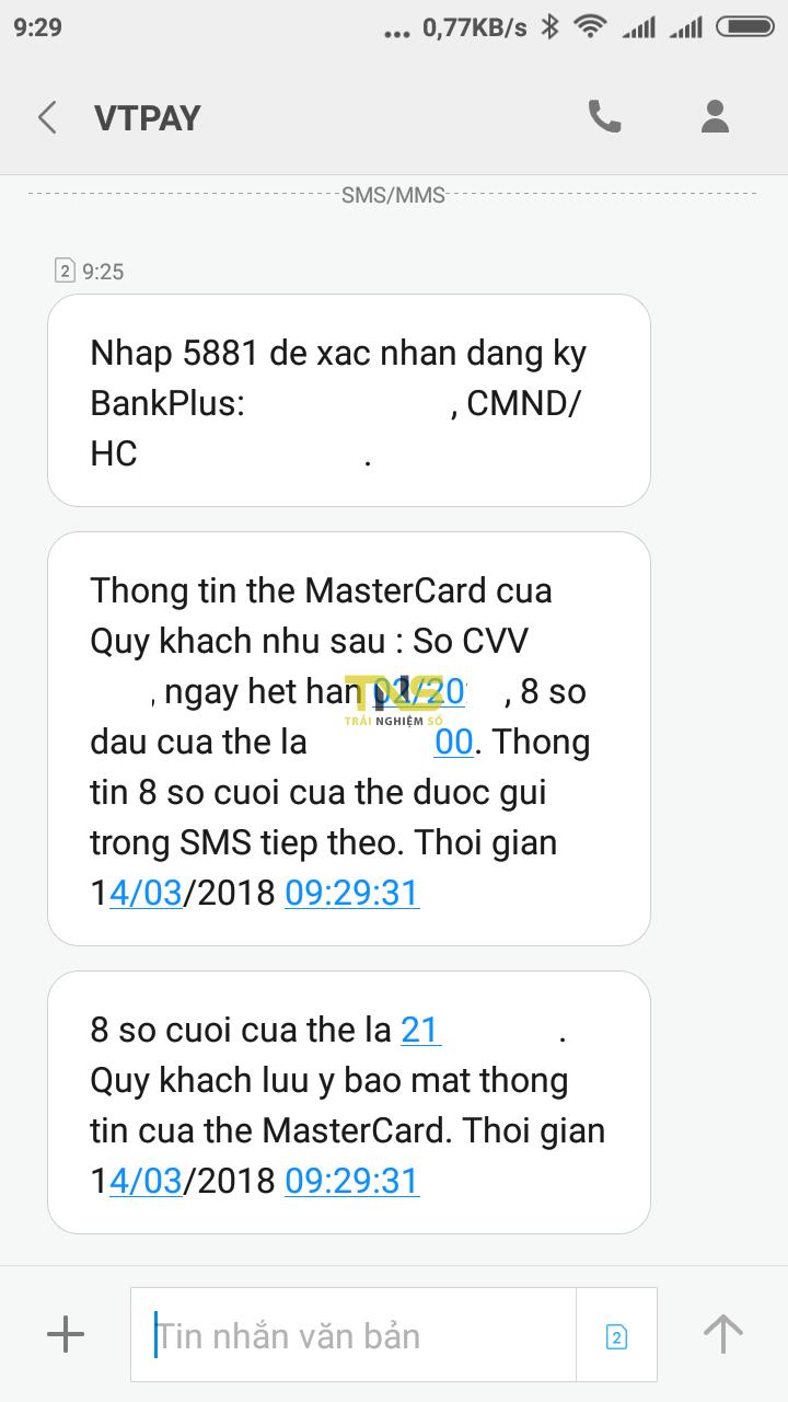 Screenshot 2018 03 14 09 29 59 015 com.android.mms  - Hướng dẫn tạo thẻ Mastercard miễn phí để giao dịch trực tuyến