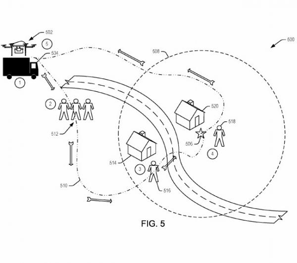 Amazon delivery drone patent