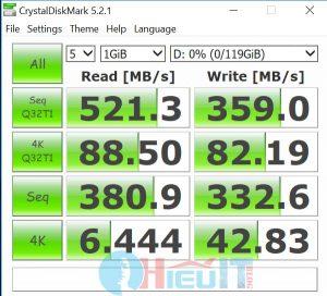 test thông số của ssd masstel L133