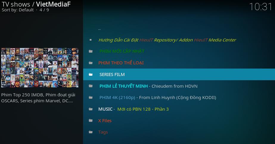KODI] Hướng dẫn đưa list phim lên VietmediaF và VNOpen